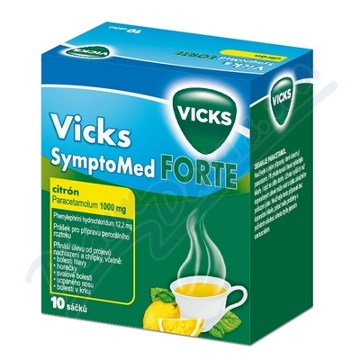Vicks Symptomed forte citron por.plv.10