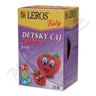 LEROS BABY Dětský čaj Jahůdka n.s.20x2g