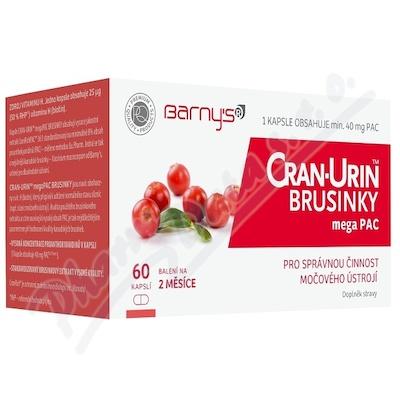 Barnys Cran-Urin megaPAC brusinky cps.60