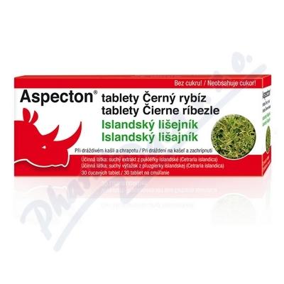 Aspecton tablety na kašel čer.rybiz 30ks