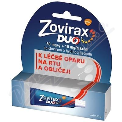 Zovirax Duo 50mg/g+10mg/g krém 1x2g
