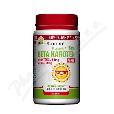 Beta Karot.15mg+Panten.10mg+PABA10mg 150
