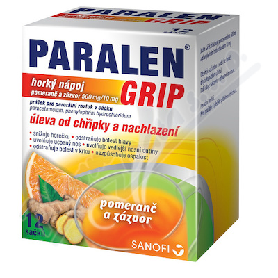 Paralen grip horký nápoj Pom.zázv.por.12