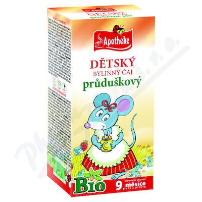 Čaj dětský BIO průduškový 20x1.5g APOTHE