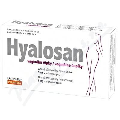 DR.MULLER Hyalosan vaginální čípky,10č.