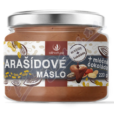 Allnature Arašídové máslo s mléčnou čoko
