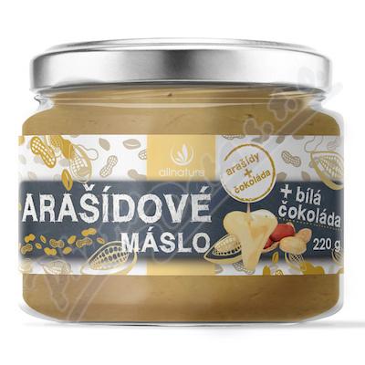Allnature Arašídové máslo s bílou čoko.