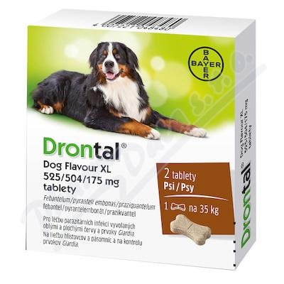 Drontal Dog Flavour XL525/504/175mg tbl2