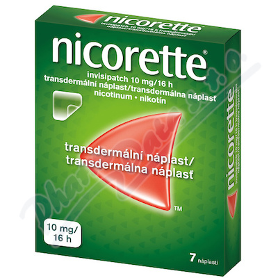 Nicorette Invisipatch 10mg/16h náp.7x10m