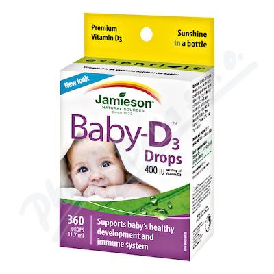 JAMIESON Baby-D3 Vit.D3 400 IU kapky11.7