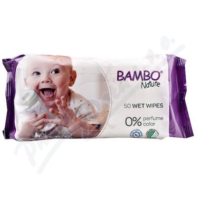 Bambo Nature děetske vlhc.ubrousky 50ks