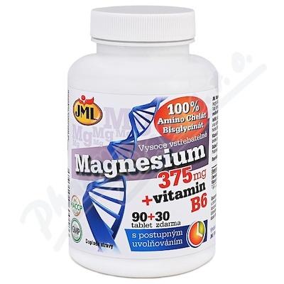 JML Magnesium 375mg+vit.B6 tbl.90+30