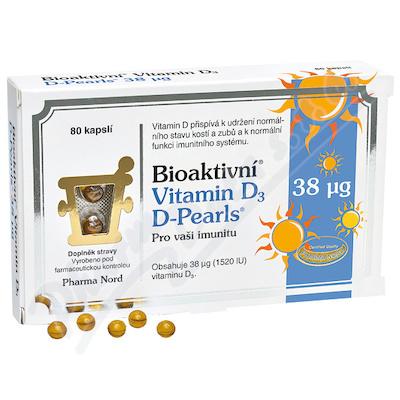 Bioaktivni Vit.D3 D-Pearls 38mcg cps80