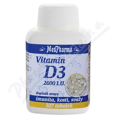 MedPh Vitamín D3 2000 I.U. tob.107