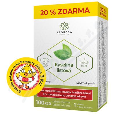APOROSA Kyselina list.+B12+B6 tbl.100+20