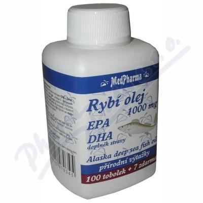 MedPh Rybí olej 1000mg+EPA+DHA 107tbl.