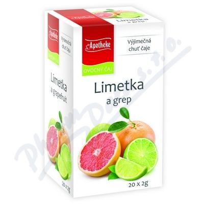 Čaj Limetka a grep 20x2g APOTHEKE