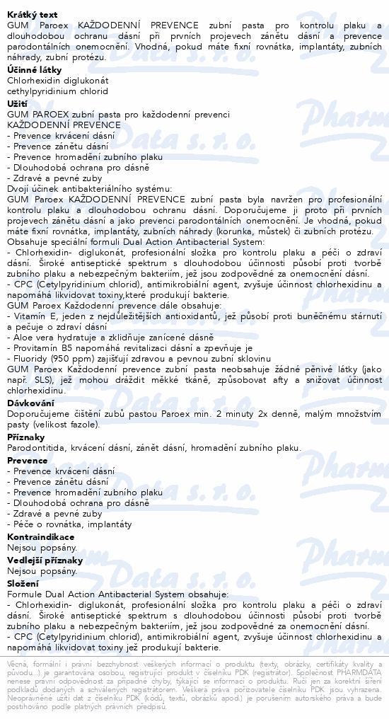 GUM zubní pasta Paroex (CHX 0.06%) 75ml G1750EME