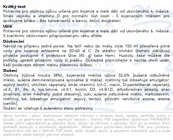 Hami kaše Super Cena 2x225g rýž. ml. VANILKA od 6M