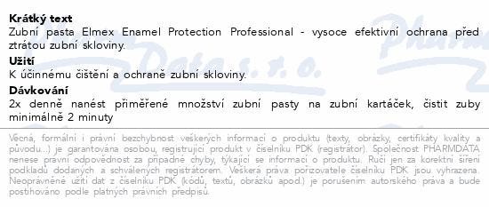Elmex Enamel Protection Professional zub.pas.75ml
