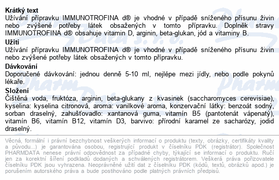 Immunotrofina d 200ml