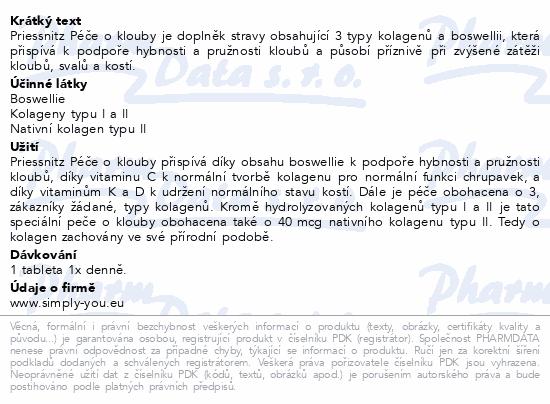 Priessnitz Kolag+Boswellie péče o klouby tbl.90+30