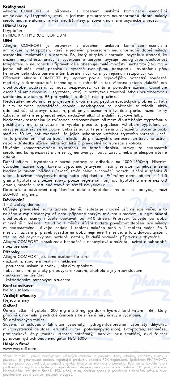 allegra COMFORT tbl. obd. 90