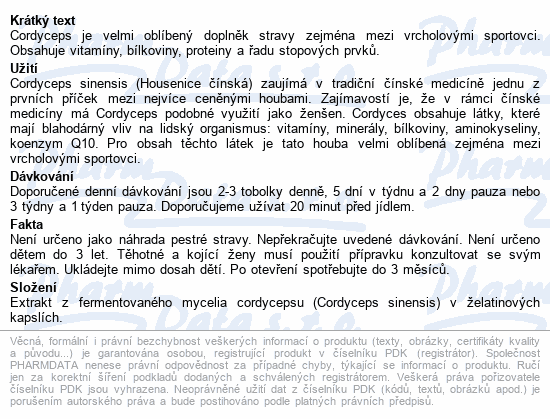 Allnature Cordyceps cps.100