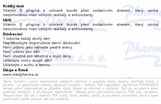 MedPharma Vitamin E 200 tob.107
