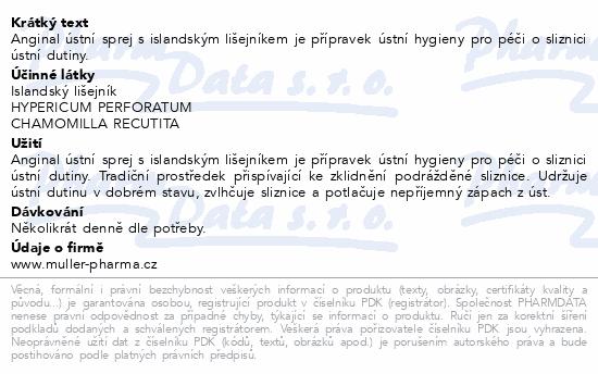 Anginal ústní sprej s isl.lišejníkem 30mlDr.Müller