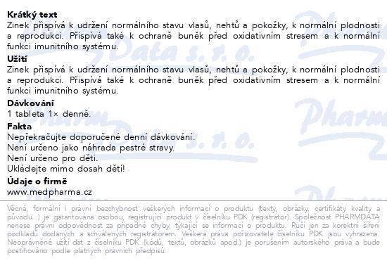 MedPharma Zinek 25mg Forte tbl.107