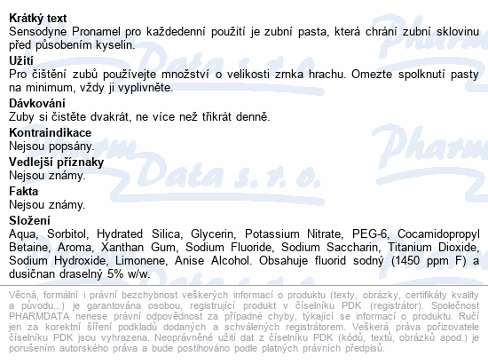 Sensodyne Pronamel ZP 75ml