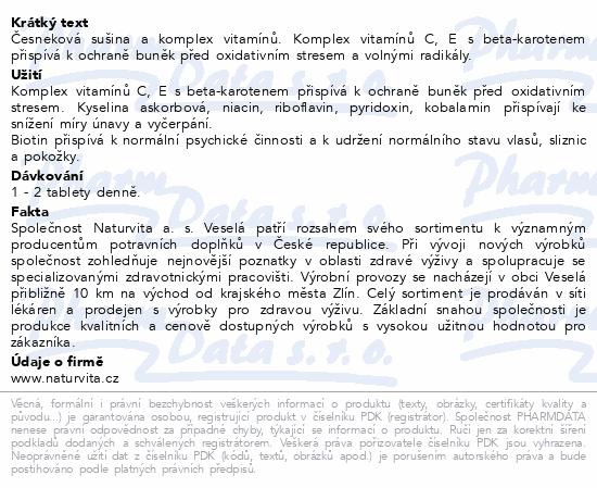 NATURVITA Allicor Super česnek+vitamin.tbl.60