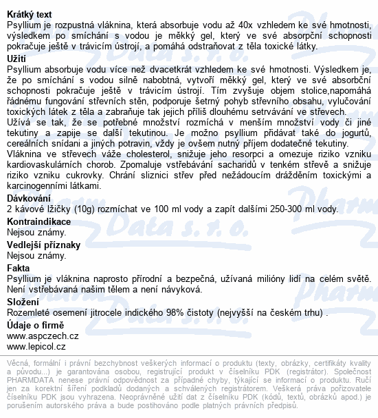 Psyllium 250g+50g zdarma TOPNATUR