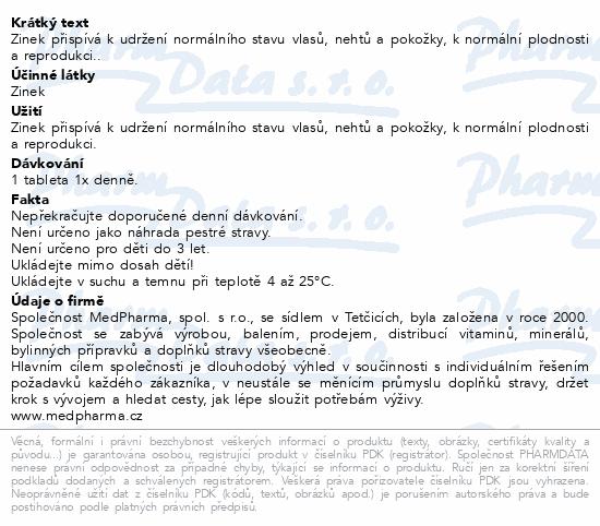 MedPharma Zinek 15mg tbl.107