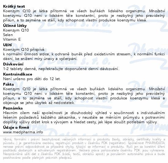 MedPharma Coenzym Q10 30mg+vit.E+selen tbl.67