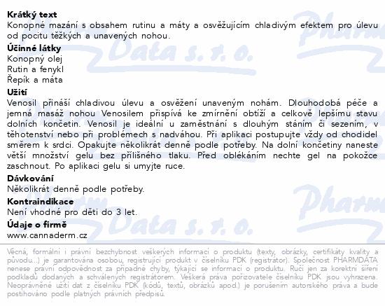 Cannaderm Venosil konopné mazání 100ml