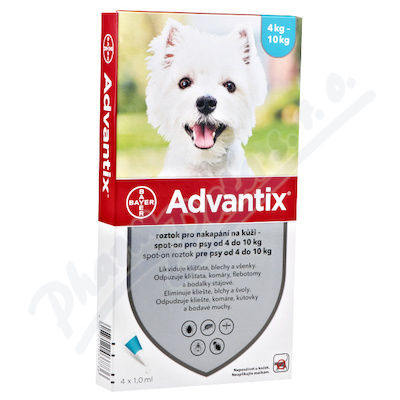 Advantix-psy spot.on.4-10kg a.u.v.1x1ml