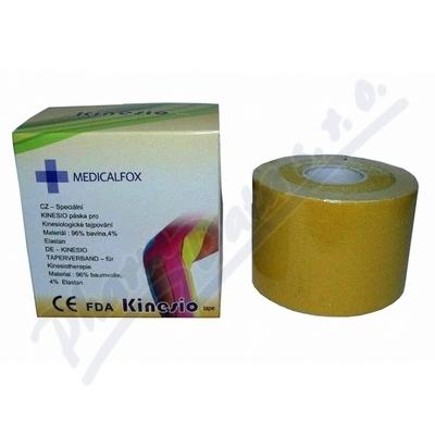 FOX MUSCLE TAPE-kinezio žlutý 5cmx5m