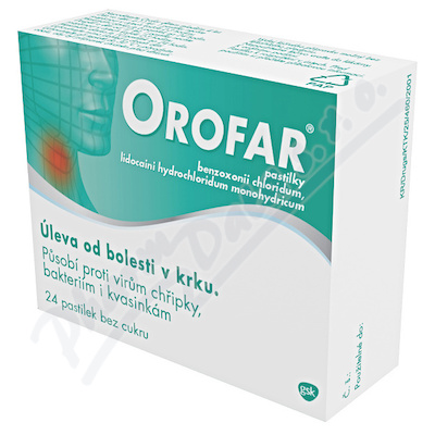 Orofar 1mg/1mg pastilky 24ks