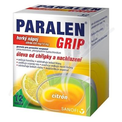 Paralen Grip Hor.Nápoj citron p.gr.sus12