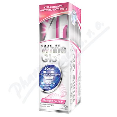WHITE GLO Sensitive bělící zub.past.150g