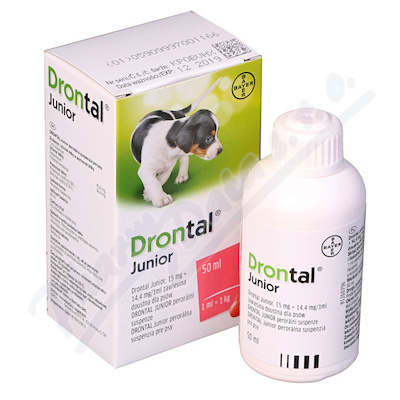Drontal JUNIOR susp.50ml+apl.štěň a.u.v.