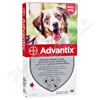 ADVANTIX psy S.O. 10-25kg 4x2.5ml a.u.v.