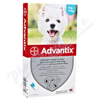 Advantix-psy s.o.4-10kg a.u.v.4x1ml